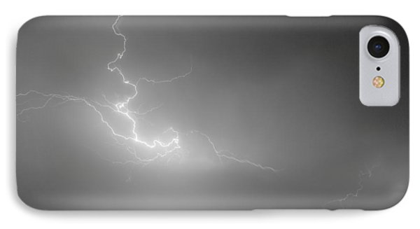 Lightning Goes Boom In The Middle Of The Night Bw Phone Case by James BO  Insogna