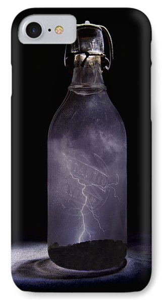 Lightning In A Bottle IPhone Case by John Crothers