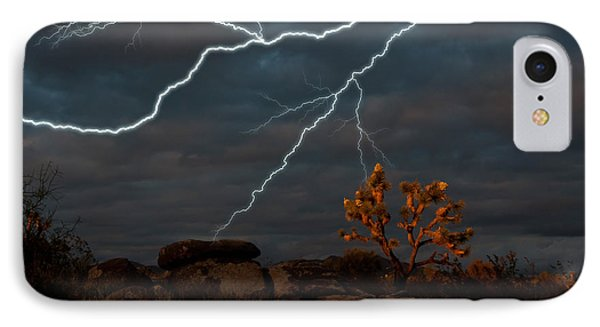 Lightning, Joshua Tree Highway IPhone Case by Mark Newman