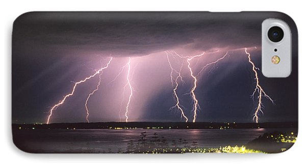 Lightning IPhone Case by King Wu