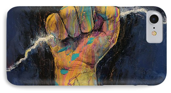 Lightning Phone Case by Michael Creese