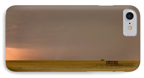 Lightning On The Horizon Of Oil Fields  Phone Case by James BO  Insogna