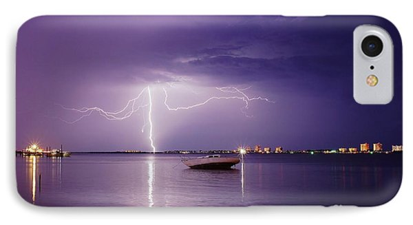 Lightning On The Indian River IPhone Case