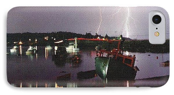 Lightning Over Cribstone Bridge IPhone Case
