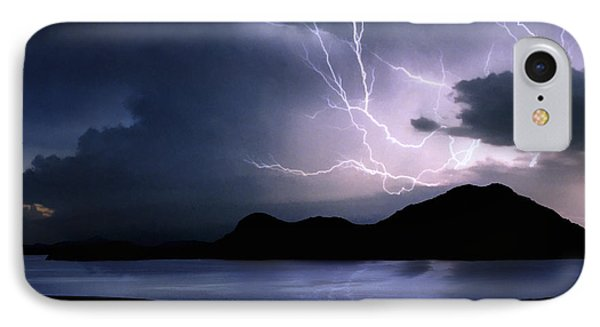 Lightning Over Quartz Mountains - Oklahoma IPhone Case by Jason Politte
