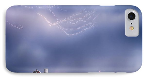 Lightning Storm And The Big Red Barn Phone Case by James BO  Insogna