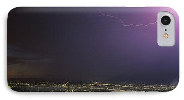 Lightning Storm At Night IPhone Case by Panoramic Images