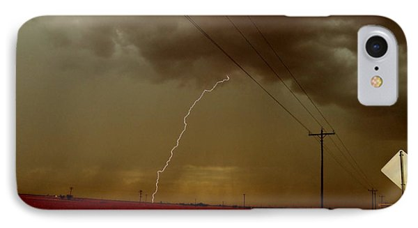 IPhone Case featuring the photograph Lightning Strike In Oil Country by Ed Sweeney