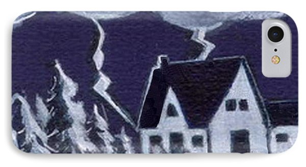 IPhone Case featuring the painting Lightning Strike by Joyce Gebauer