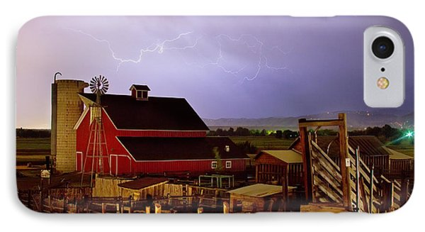 Lightning Strikes Over The Farm Phone Case by James BO  Insogna