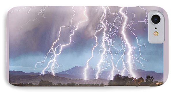 Lightning Striking Longs Peak Foothills 4c IPhone Case