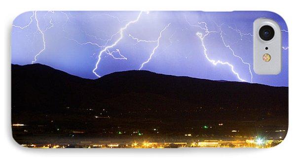 Lightning Striking Over Ibm Boulder Co 3 Phone Case by James BO  Insogna