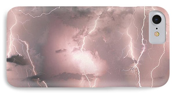 Lightning, Thunderstorm, Weather, Sky IPhone Case by Panoramic Images