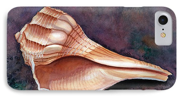 Lightning Whelk IPhone Case by Barbara Jewell