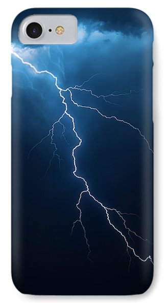 Lightning With Cloudscape Phone Case by Johan Swanepoel