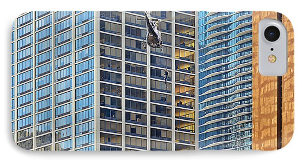 Lights - Camera - Action - Movie Backdrop Chicago Phone Case by Christine Till