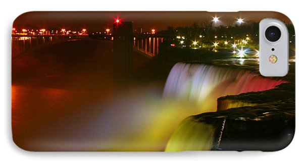 Lights On Niagara Falls IPhone Case by Richard Engelbrecht
