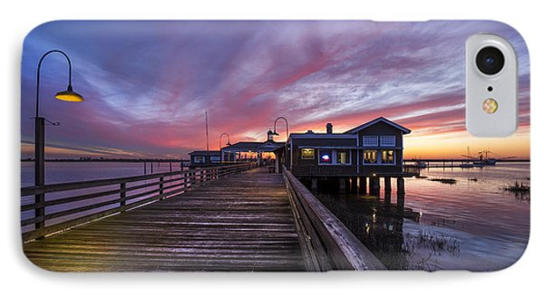 Lights On The Dock Phone Case by Debra and Dave Vanderlaan