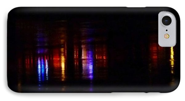 Lights On The River Reflection Phone Case by Susan Garren