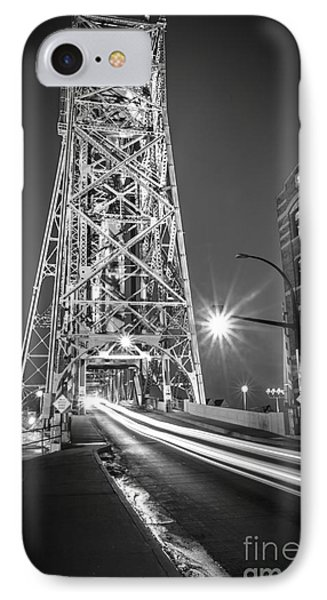 IPhone Case featuring the photograph Lightspeed Through The Lift Bridge by Mark David Zahn Photography