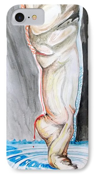 IPhone Case featuring the painting Lightweight Of The Being Listen With Music Of The Description Box by Lazaro Hurtado