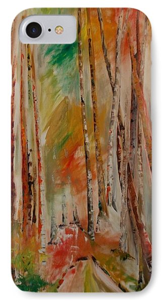 IPhone Case featuring the painting Like The Trees Always Looking Up by PainterArtist FIN