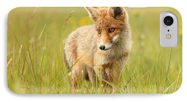 Lil' Hunter - Red Fox Cub IPhone Case by Roeselien Raimond