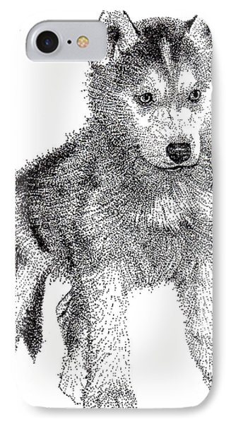 Lil Husky IPhone Case by Terri Pfister