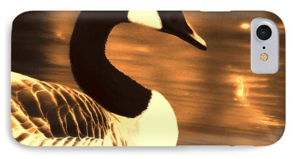 Lila Goose The Pond Queen Sepia IPhone Case by Lesa Fine