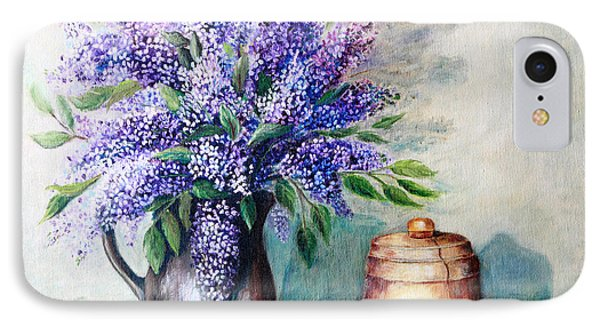 Lilac Bouquet IPhone Case by Pattie Calfy