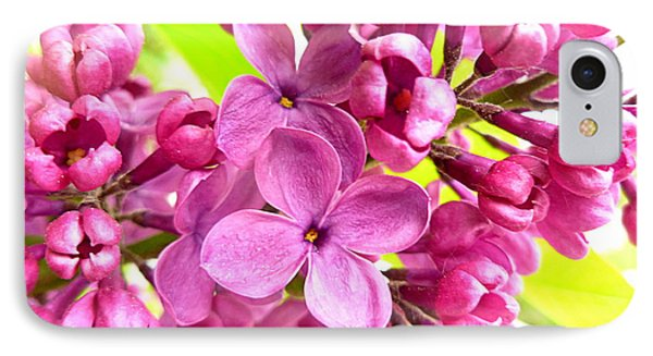 Lilac Closeup Phone Case by The Creative Minds Art and Photography
