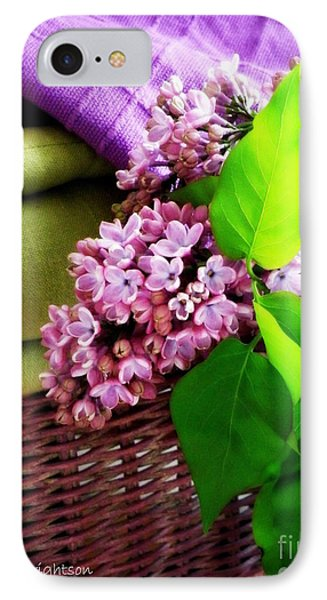 Lilac Still Life Phone Case by Lainie Wrightson