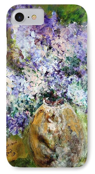 Lilac Time Phone Case by Mary Spyridon Thompson