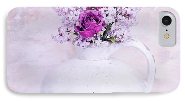 Lilacs And Roses Phone Case by Marsha Heiken