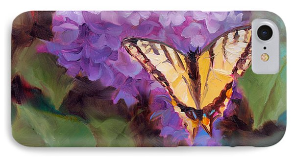 Lilacs And Swallowtail Butterfly IPhone Case