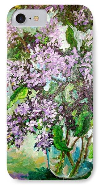 Lilacs Phone Case by Carol Mangano