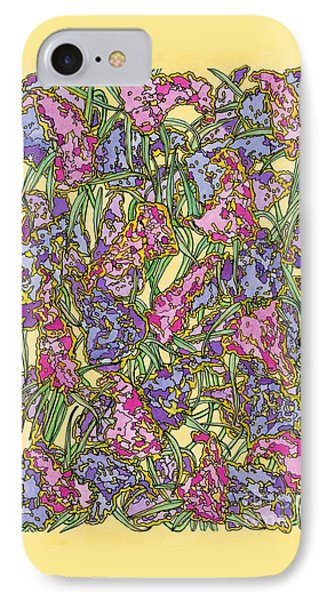 Lilacs Electric Phone Case by Mag Pringle Gire