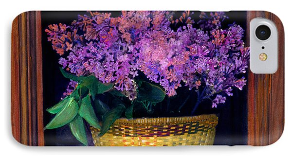 Lilacs Framed IPhone Case by Cindy McIntyre