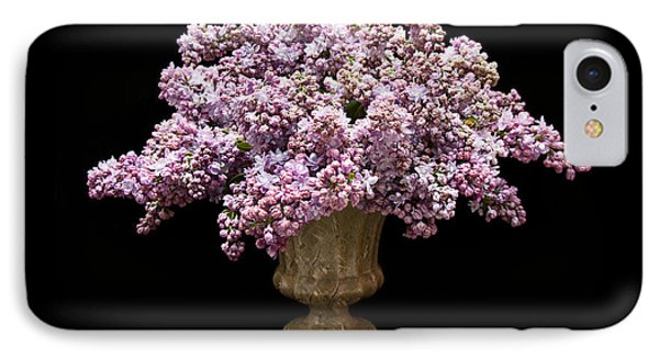 Lilacs In A Green Vase - Flowers - Spring Bouquet IPhone Case by Andee Design