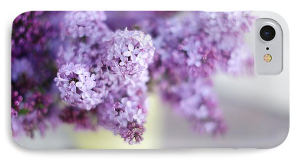 Lilacs In A Vase Phone Case by Rebecca Cozart