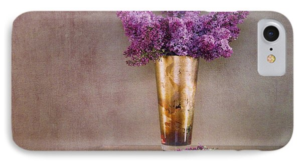 Lilacs In Vase 1 Phone Case by Rebecca Cozart