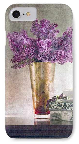Lilacs In Vase 2 Phone Case by Rebecca Cozart