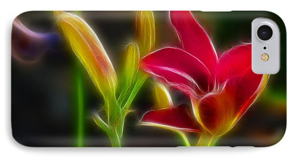 Lilies-6340-fractal Phone Case by Gary Gingrich Galleries