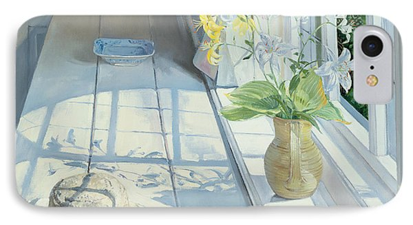 Lilies And A Straw Hat IPhone Case by Timothy Easton
