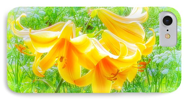 Lilies Back-lit IPhone Case by Michael Hubley