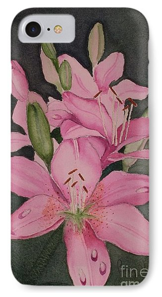 Lilies In Pink IPhone Case