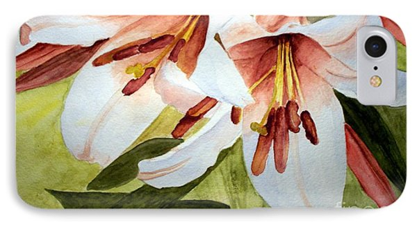 Lilies In The Garden IPhone Case by Carol Grimes