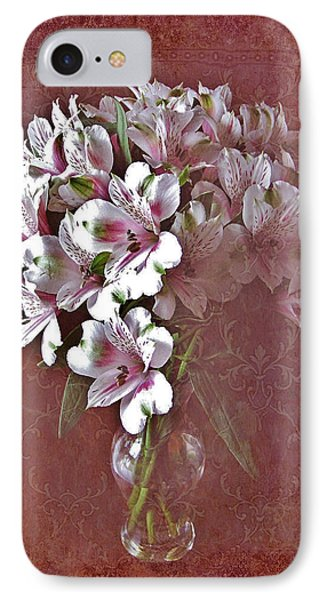IPhone Case featuring the photograph Lilies In Vase by Diane Alexander