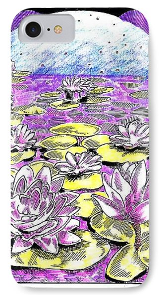 IPhone Case featuring the drawing Lilies Of The Lake by Seth Weaver