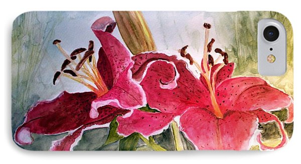 Lilies Turned Tiger IPhone Case by Carol Grimes
